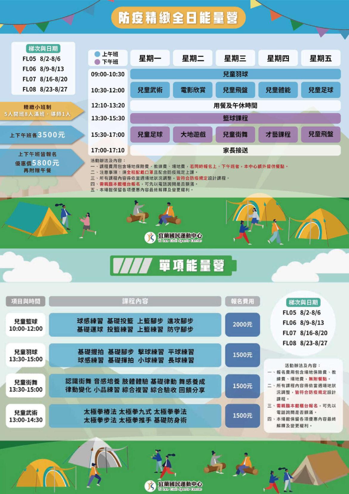 【營隊】八月份兒童營隊 防疫精緻班